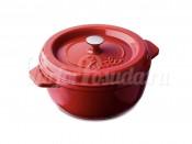 Кастрюля круглая из чугуна Fissler, серия Arcana, красная 19 см, 2 л