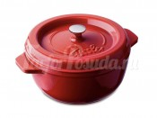 Кастрюля круглая из чугуна Fissler, серия Arcana, красная 23 см, 3 л