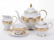 """Чайный сервиз на 6 перс. 15 пред. """"Александрия Белый золото"""""""