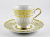 "Набор для кофе ""Александрия Белая золото"" чашка 100 мл и блюдце на 6 перс. 12 пред."