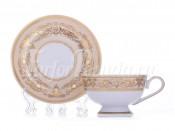 "Набор для чая ""Александрия Крем золото"" чашка 200 мл и блюдце на 6пер. 12пред."