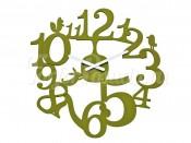 Часы настенные PI:P Koziol, желто-оливковый