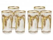 """Набор хрустальных стаканов для воды 300 мл 6 шт. """"Золотая ветвь"""""""