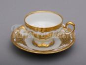 """Набор для кофе мокко подарочный """"Кленовый лист белый 408""""(чашка100мл.+блюдце) на 6перс.12пред."""