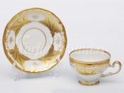 """Набор для чая """"Кленовый лист белый 408""""(чашка160мл.+блюдце) на 6перс.12пред."""