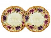 """Набор из 2-х десертных тарелок """"Мелодия"""" 20,5 см"""