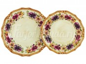 """Набор тарелок суповая и обеденная """"Мелодия"""" суповая 23,5 см, обеденная 25 см"""
