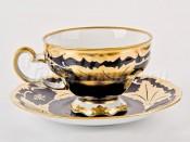 "Набор для чая ""Кленовый лист синий 819""(чашка210мл.+блюдце) на 6перс.12пред."