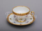 """Набор для чая """"Мейсенский цветок 1016""""(чашка+блюдце) 0,16л. на 6перс.12пред."""
