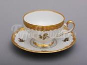 "Набор для чая ""Роза золотая 1007""(чашка160мл.+блюдце) на 6перс.12пред."