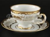 """Набор для чая """"Симфония золотая 427""""(чашка210мл.+блюдце) на 6перс.12пред."""