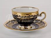 """Набор для чая """"Симфония кобальт 8012""""(чашка160мл.+блюдце) на 6перс.12пред."""