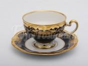 """Набор для чая """"Симфония кобальт 8012""""(чашка210мл.+блюдце) на 6перс.12пред."""