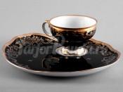 "Набор для чая ""Эгоист Ювел синий 801""(чашка+блюдо)"