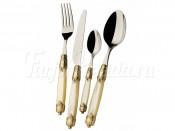 "Набор столовых приборов Casa Bugatti ""Rococo Ivory"" 24 предмета на 6 персон золото"