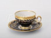 """Набор для чая """"Ювел синий 801""""(чашка160мл.+блюдце) на 6перс.12пред."""