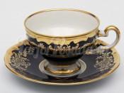 """Набор для чая """"Ювел синий 801""""(чашка210мл.+блюдце) 12пред."""