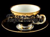 """Набор для чая """"Ювел синий 801""""(чашка210мл.+блюдце) на 6перс.12пред."""