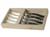 """Набор ножей для мяса """"Legnoart"""" 4 шт темное дерево"""