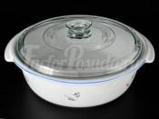 """Блюдо круглое с текляной крышкой  для запекания  295 см """"Гуси"""" Тхун"""