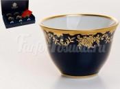 """Набор чашек для кофе """"Арабика Ювел синий 801"""" 6шт."""