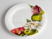 "Тарелка обеденная 28 см ""Яблоки и камелии"""