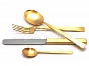 """Набор столовых приборов на 6 перс. 24 пред. """"Bauhaus Gold"""" матированные"""