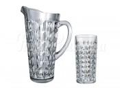 """Набор """"Даймонд"""" кувшин 1,25 л и 6 стаканов 260 мл"""