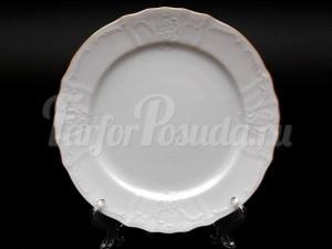 """Набор закусочных тарелок 21 см 6 шт. """"Бернадотте белый""""."""