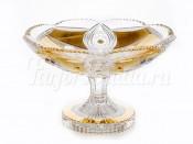 """Ваза для конфет 18 см """"Хрусталь с золотом 60111"""""""