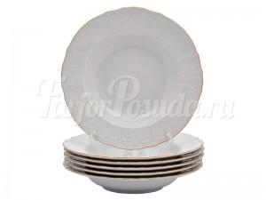 "Набор глубоких тарелок 23 см 6 шт. ""Бернадотте белый""."
