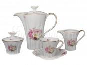 """Чайный сервиз Каролина """"Английская Роза"""" на 6 перс. 15 пред."""