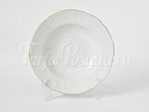 """Набор тарелок суповых """"Бернадотте белый 1011"""" 21см. 6шт."""