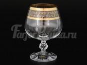 Набор бокалов для бренди 250 мл Клаудиа Золотой лист (6 шт)