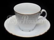 """Набор чайный """"Бернадотте белый"""" 6чашек+6блюдец 160мл. выс."""