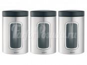 247224 Набор контейнеров с окном 3 пред. 1,4 л