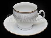 """Набор чайный """"Бернадотте белый"""" 6чашек+6блюдец 240мл. выс. на ножке"""