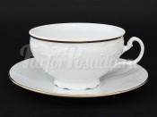 """Набор для чая 360 мл """"Бернадотте белый"""" 6 чашек и 6 блюдец"""