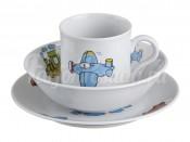 """Набор посуды для детей """"Самолетом, поездом, машиной"""" 3 пред."""