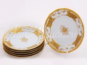 """Набор тарелок """"Кленовый лист белый 408"""" 24см. 6шт."""