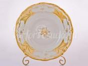 """Набор тарелок """"Кленовый лист белый 408"""" 24см. 6шт. глубокая"""