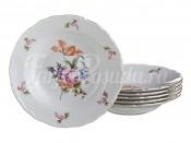 """Набор глубоких тарелок 23 см 6 шт. """"Полевой цветок"""" ОФ512"""