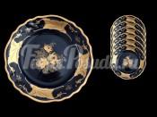 "Набор тарелок ""Кленовый лист синий 819шато"" 22см. 6шт. глубокая"