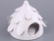 """Подсвечник """"Елка"""" белая высота 12 см.диаметр 13 см."""