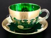"Набор для чая 200 мл ""Лепка зеленая"" на 6 перс. 12 пред."