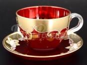 """Набор для чая 200 мл """"Лепка красная"""" на 6 перс. 12 пред."""