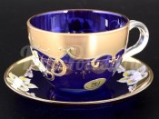 """Набор для чая 200 мл """"Лепка синяя"""" на 6 перс. 12 пред."""
