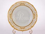 """Набор тарелок """"Симфония золотая 427"""" 24см. 6шт. глубокая"""