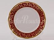 """Набор тарелок """"Ювел красный 876/1"""" 19см. 6шт."""
