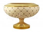 "Ваза декоративная 33 см на ножке ""Murano Cream Gold"""